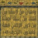 «وَاسْأَلْ مَنْ أَرْسَلْنَا مِنْ قَبْلِكَ مِنْ رُسُلِنَا أَجَعَلْنَا مِنْ دُونِ الرَّحْمَنِ آلِهَةً يُعْبَدُونَ» الله در بخشِ اول از آیه بالا، به رسولِ اسلام می فرماید: و از رسول های ما که پیش از تو فرستادیم سوال بپرس. بر اساس آیه فوق، این رسولان، باید در زمانِ رسولِ اسلام، زنده بوده باشند تا رسولِ اسلام بتواند از آن ها سوال بپرسد؛ این رسول ها چند نفر بودند؟ و نامِ هر کدام از این رسول ها چه بوده است؟
